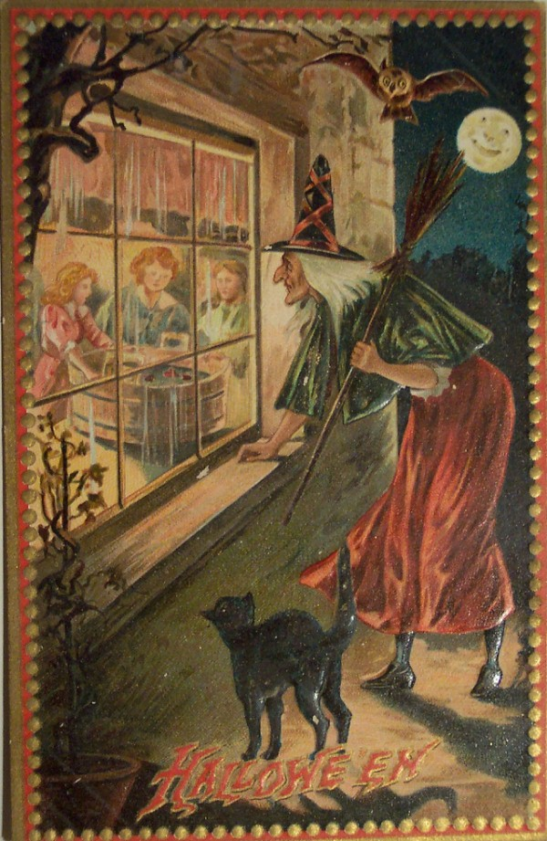 witch outside window